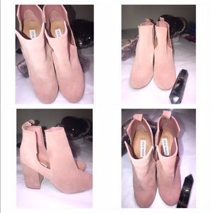 Steve Madden Suede Pink Boots Size 8.5